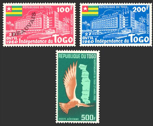 Togo-Poste aérienne-34/36