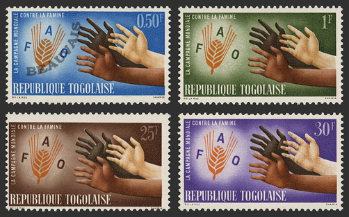 Togo-Poste-377/80