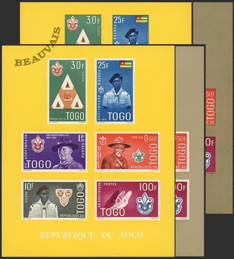 Togo-Blocs-5 jeu de 4 blocs
