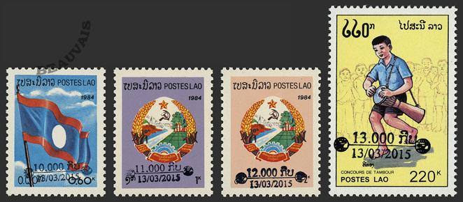 Laos-Poste-1862/65
