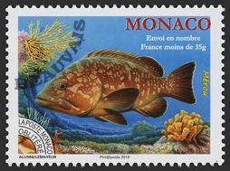 Monaco - 2018/02 - Préoblitéré - Le mérou