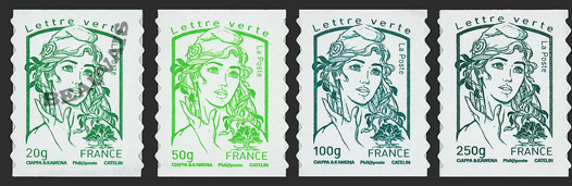 France-Autoadhésifs-858/61